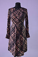 Женское платье в клетку расклешенное