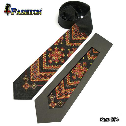 Вышитый галстук Осень