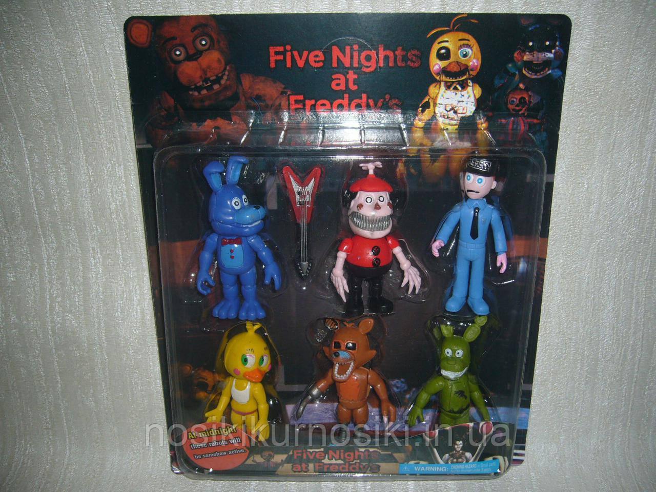 Аніматроніки П'ять ночей з Фредді Five nights at Freddys 6 фігурок набір 2