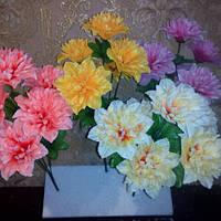 Искусственные цветы георгинка, фото 1