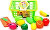 Игровой набор Корзина с фруктами и овощами 612-4