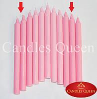 Свеча столовая розовая 240х20 мм 30 шт, фото 1