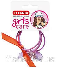 Зажим для волос эластичный, маленький, 2х3 шт., разноцветный, 5 см. 8160/GIRL