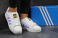 Кроссовки женские Adidas Superstar SD1-2729 Материал натуральная кожа. Белые