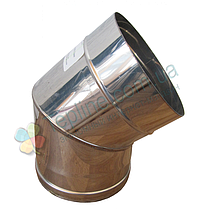 Колено 45° для дымохода d 160 мм; 0,5 мм из нержавеющей стали AISI 304 - «Версия Люкс», фото 3
