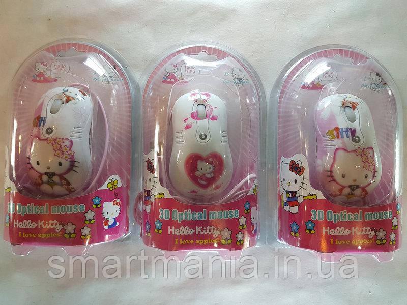 Мышь компьютерная проводная для детей Hello Kitty