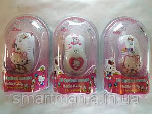 Миша комп'ютерна дротова для дітей Hello Kitty