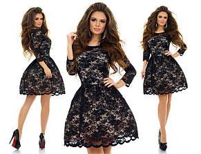 Гипюровое платье с фатином , фото 3