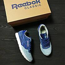 Женские кроссовки Reebok Classic Blue топ реплика, фото 3