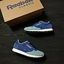 Женские кроссовки Reebok Classic Blue топ реплика, фото 2