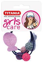 Зажим для волос эластичный, «рыба/шарики», 2 шт., черный 8163/GIRL
