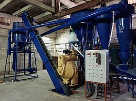 Линия по производству пеллет из лузги подсолнечника