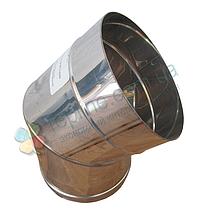 Колено 45° для дымохода d 130 мм; 1 мм из нержавеющей стали AISI 304 - «Версия Люкс», фото 2