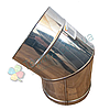 Колено 45° для дымохода d 130 мм; 1 мм из нержавеющей стали AISI 304 - «Версия Люкс», фото 3