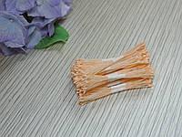 Тайские тычинки персиковые супер мелкие на персиковой нитке, фото 1