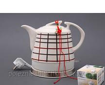 """Электрический чайник с керамическим корпусом """"Клетка"""" 1,2 л."""
