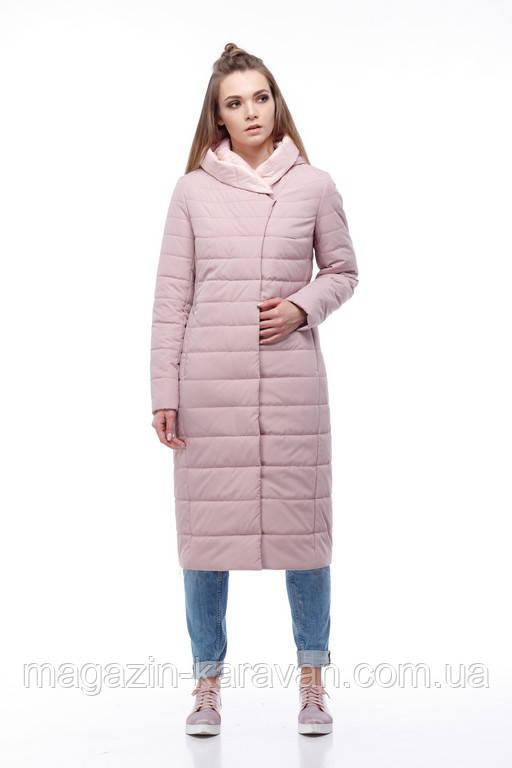 Пальто-плащ женский удлиненный Сима пудра