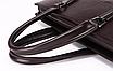 Сумка мужская Feidika BOLO кожа большая горизонтальная Черный, фото 3