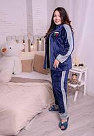 Женский теплый костюм для дома большого размера из махры  00022