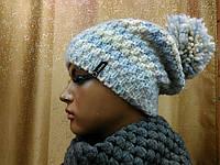 Visso TM Loman, женская шапка на флисе с бубоном, фото 1