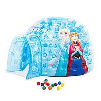 Детский игровой центр надувной с шариками Frozen Домик INTEX 48670