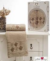 Набор  натуральных махровых полотенец   50х90 и 70х140