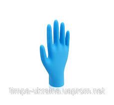 """Перчатки нитриловые (голубые) р """"S"""" без пудры"""