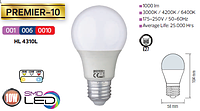 Светодиодная LED лампа Horoz Electric, 10W, 6400K, 220V, груша, Е27, Premier-10