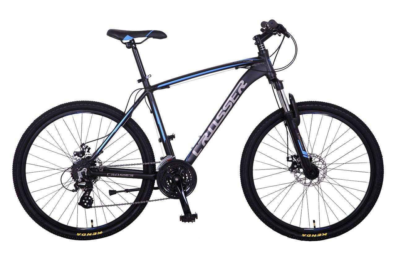 """Горный велосипед CROSSER INSPIRON 26"""" Черный/Бирюзовый"""