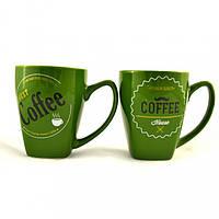 """Кружка 330мл. зеленая """"Кофе"""""""