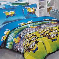 Детское постельное белье полуторное Миньены комплект подростковый