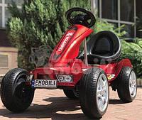 Детский электро  КАРТ с пультом управления, автопокраска, резиновые колёса, регулировка скорости