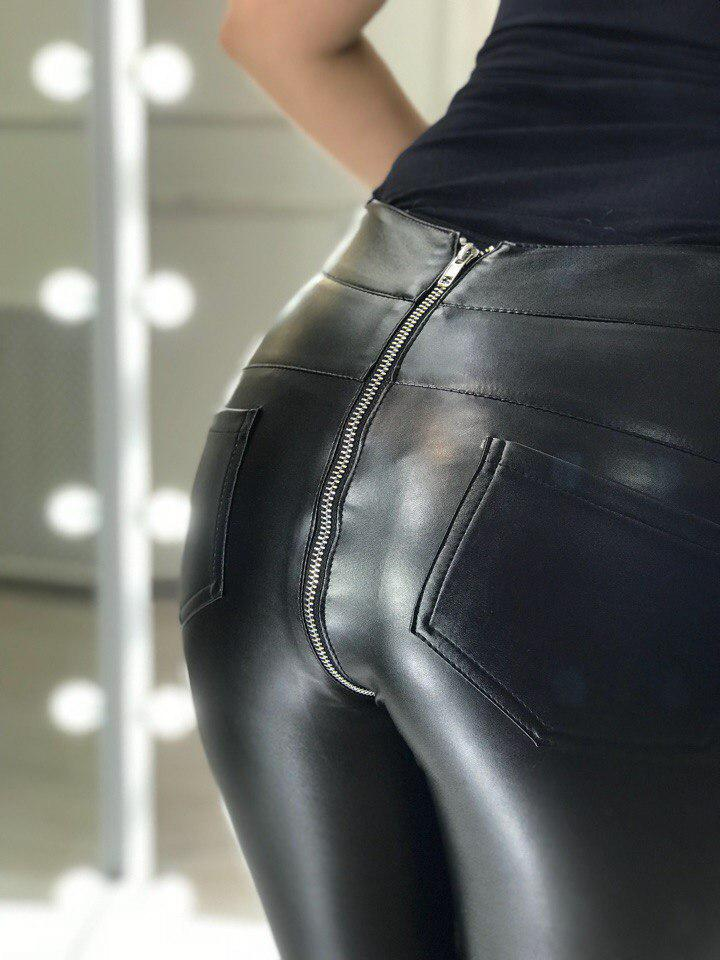Лосины кожаные с молнией сзади  продажа 9822ffec3a86c