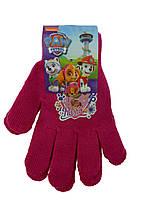 Малиновые перчатки для девочки