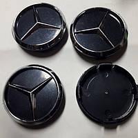 Колпачки, заглушки на диски Mercedes-Benz  Мерседес 60 мм / 56 мм Черные