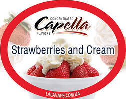 Ароматизатор Capella Strawberries and Cream (Полуниця і крем)