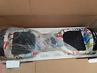 """Гироскутер 6.5"""" дюйма белый с рисунками батарея самсунг купить оптом и в розницу Smart balance wheel 6.5"""