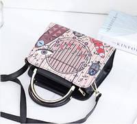 Жіноча сумка з етно малюнком через плечі, фото 1