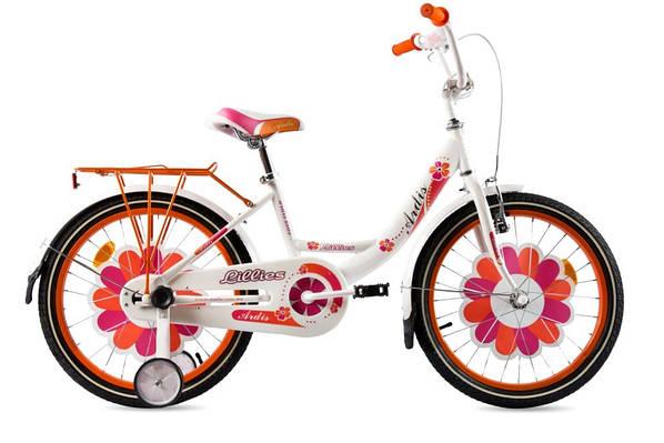 """Детский велосипед ARDIS LILLIES BMX 18"""" Белый/Оранжевый"""
