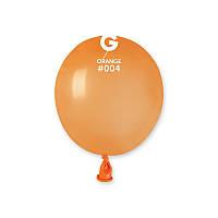 Шары латексные воздушные Gemar пастель оранжевый 3' 8 см бомбочка