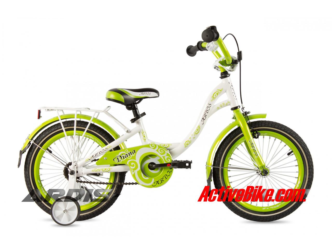 """Детский велосипед ARDIS DIANA 18""""  Белый/Салатовый"""