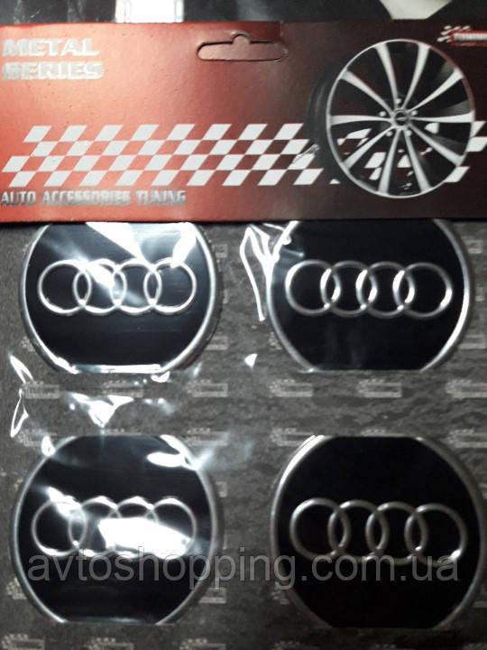 Наклейки на колпачки, заглушки, наклейки на диски 60 мм Audi Ауди