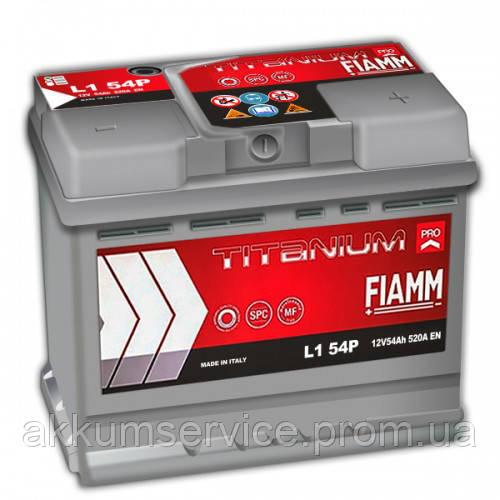 Аккумулятор автомобильный Fiamm Titanium Pro 54AH R+ 520А (L1 54P)