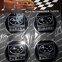 Наклейки на колпачки, заглушки, наклейки на диски 60 мм Subaru Субару