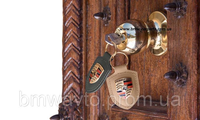 Брелок для ключей с гербом Porsche Crest Keyring, Beige, фото 3