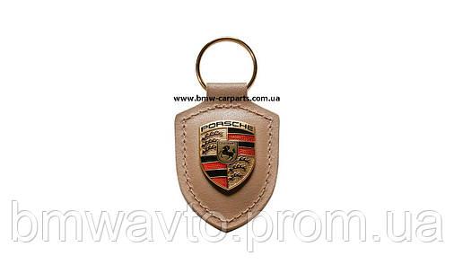 Брелок для ключей с гербом Porsche Crest Keyring, Beige, фото 2