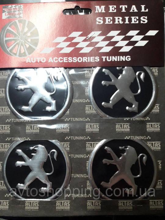 Наклейки на ковпачки, заглушки, наклейки на диски 60 мм Пежо Peugeot