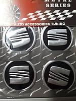 Наклейки на колпачки, заглушки, наклейки на диски 60 мм Сеат SEAT