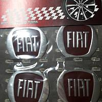 Наклейки на колпачки, заглушки, наклейки на диски 60 мм Fiat Фиат Красный