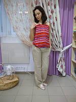 Брюки летние для беременных ДЕЛОВАЯ МАМА (бежевые, размер M)